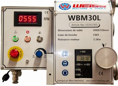 Perceuse-fraiseuse WBM30 Weiss Machines